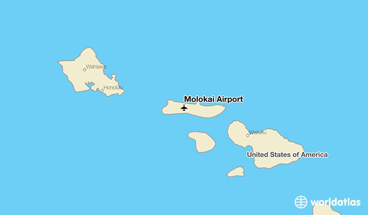 Molokai Airport location on a map