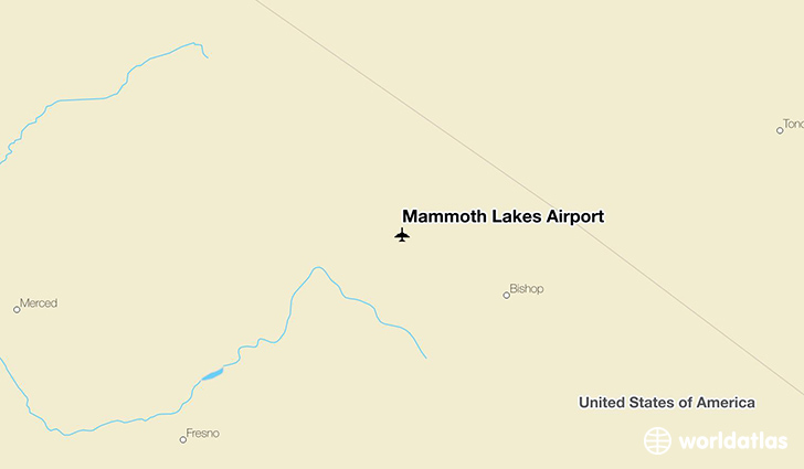 Mammoth Lakes Airport location on a map