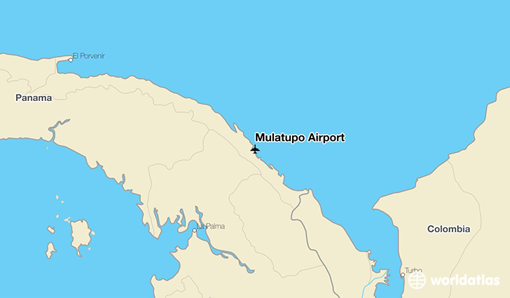 Mulatupo Airport location on a map
