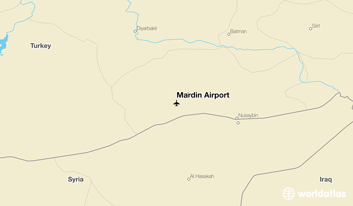 Mardin Airport location on a map