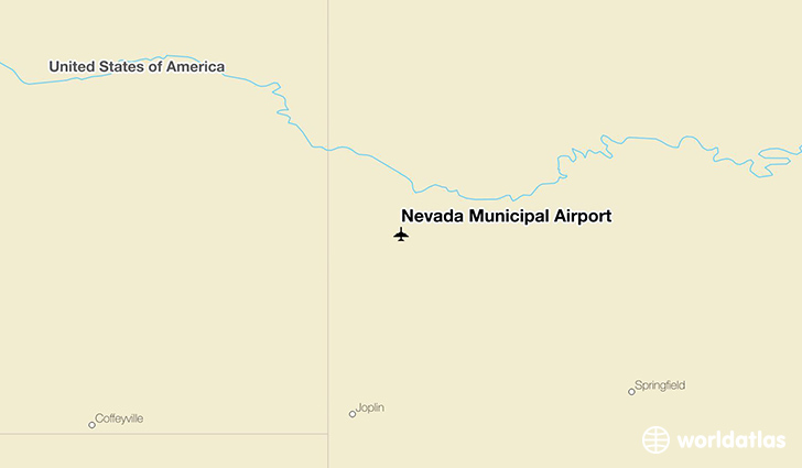 Nevada Municipal Airport location on a map