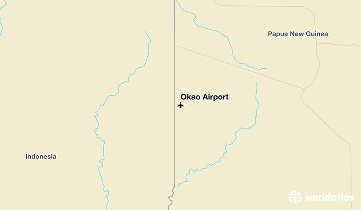 Okao Airport location on a map