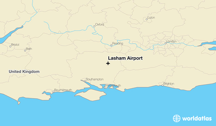 Lasham Airport location on a map