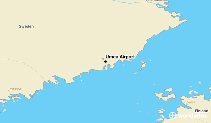 Umeå Airport location on a map