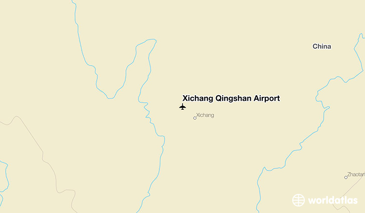 Xichang Qingshan Airport location on a map