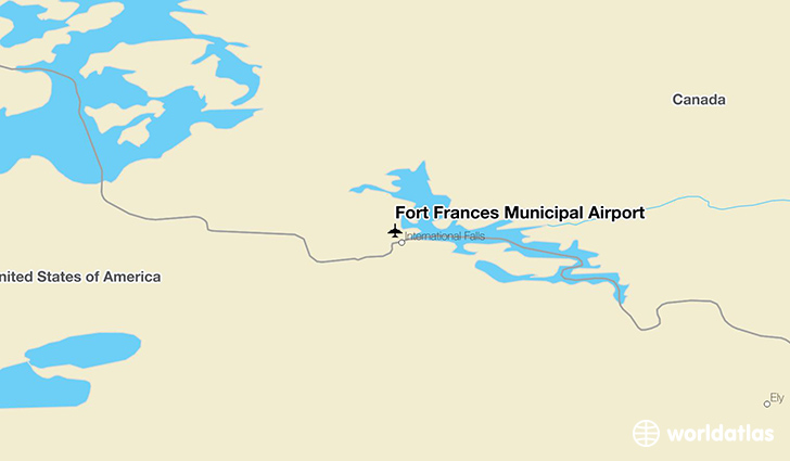 Fort Frances Municipal Airport location on a map