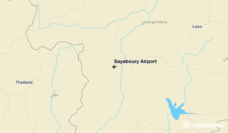Sayaboury Airport location on a map