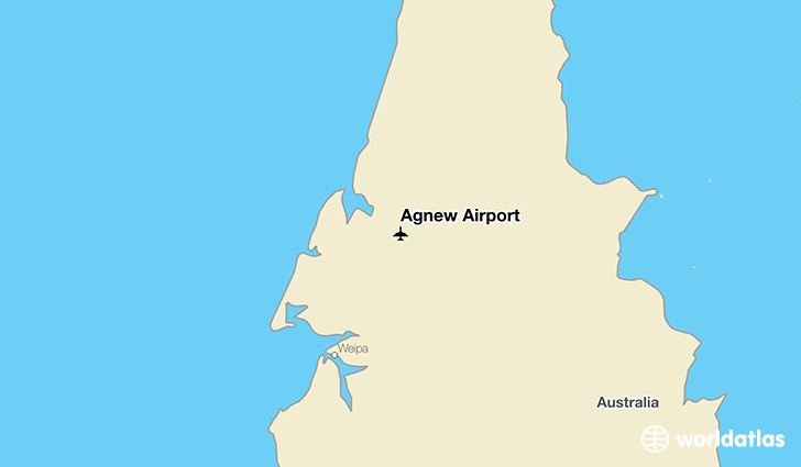 Agnew Airport location on a map