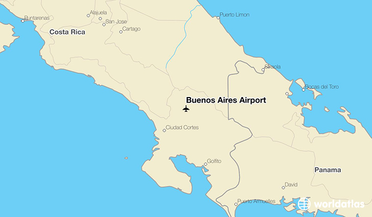Buenos Aires Airport location on a map