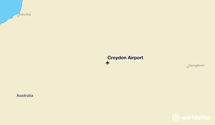 Croydon Airport location on a map