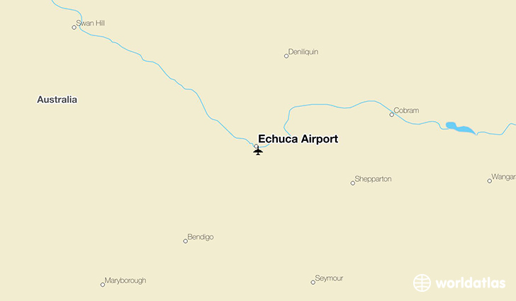Echuca Airport location on a map