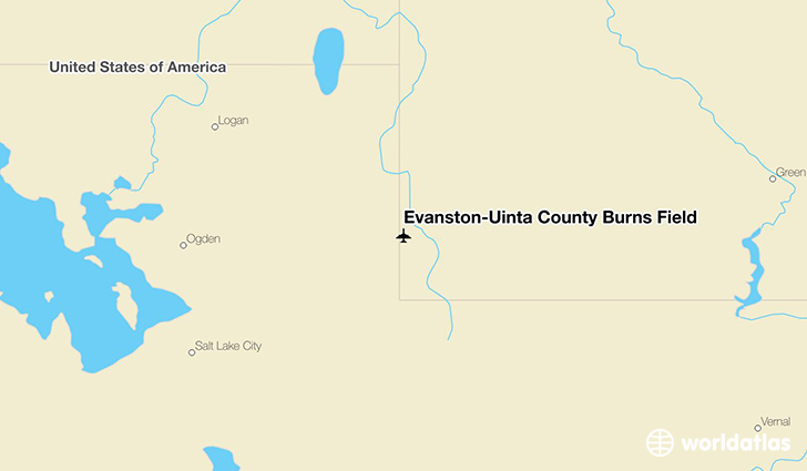 Evanston-Uinta County Burns Field location on a map