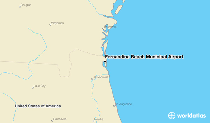 Fernandina Beach Municipal Airport location on a map