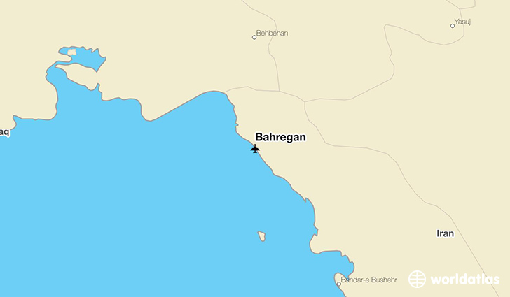 Bahregan location on a map