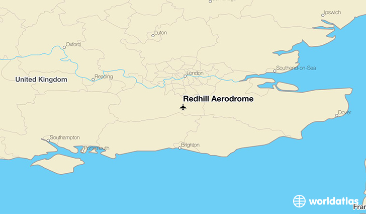 Redhill Aerodrome location on a map
