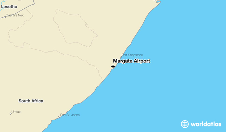 Margate Airport location on a map