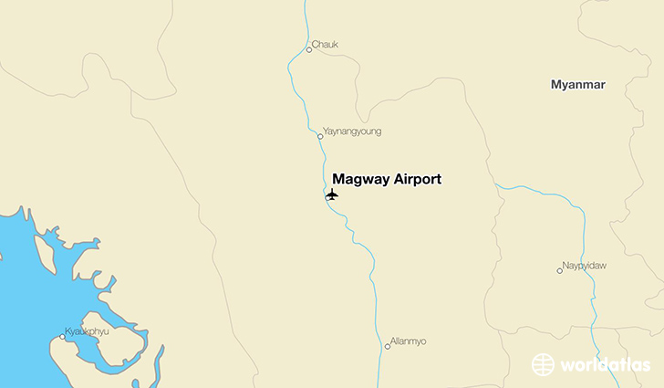Magway Airport location on a map