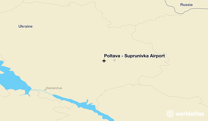 Poltava - Suprunivka Airport location on a map