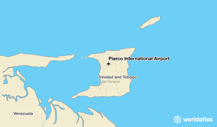 Piarco International Airport location on a map