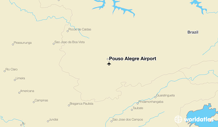 Pouso Alegre Airport location on a map