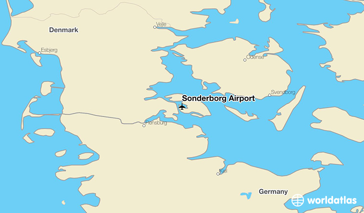 Sønderborg Airport location on a map