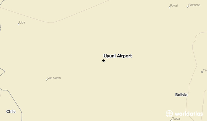 Uyuni Airport location on a map