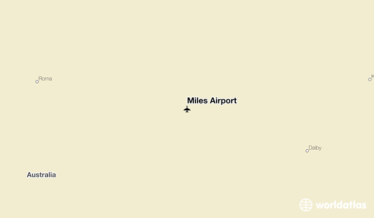 Miles Airport location on a map