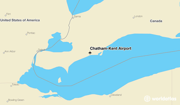 Chatham-Kent Airport location on a map
