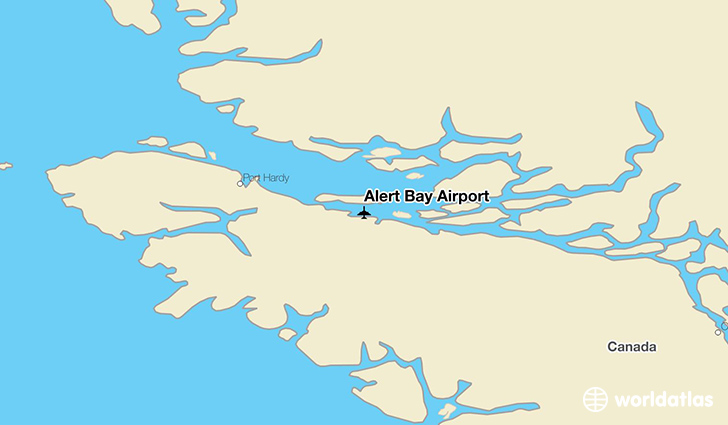 Alert Bay Airport location on a map