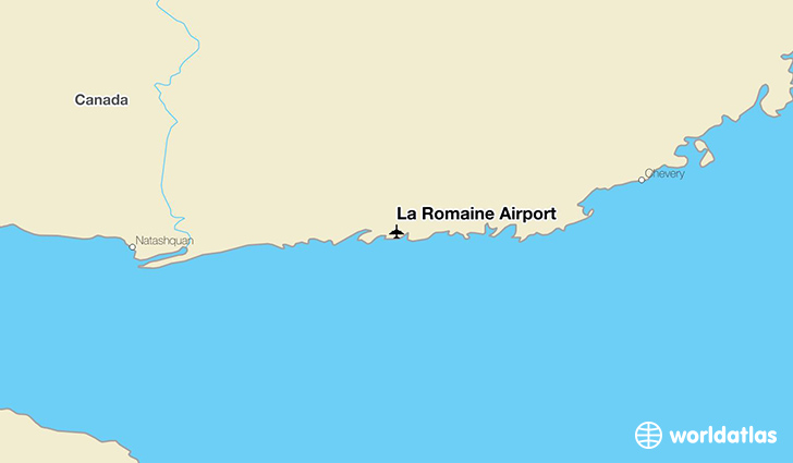 La Romaine Airport location on a map