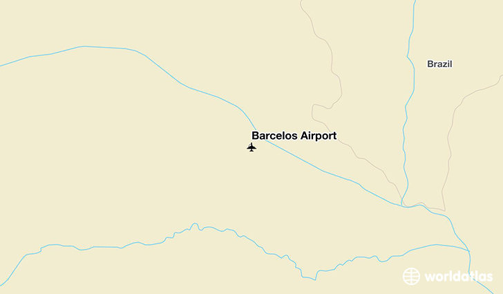 Barcelos Airport location on a map