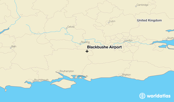 Blackbushe Airport location on a map