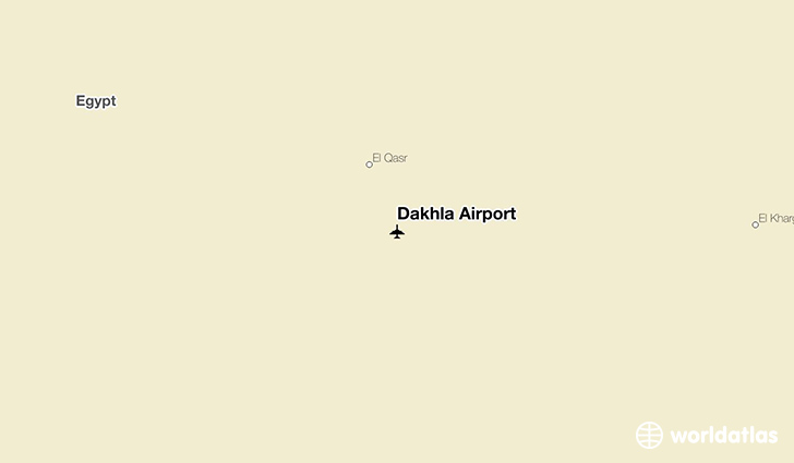 Dakhla Airport location on a map
