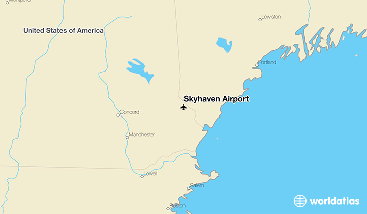 Skyhaven Airport location on a map