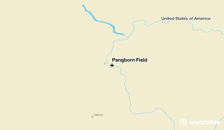 Pangborn Field location on a map