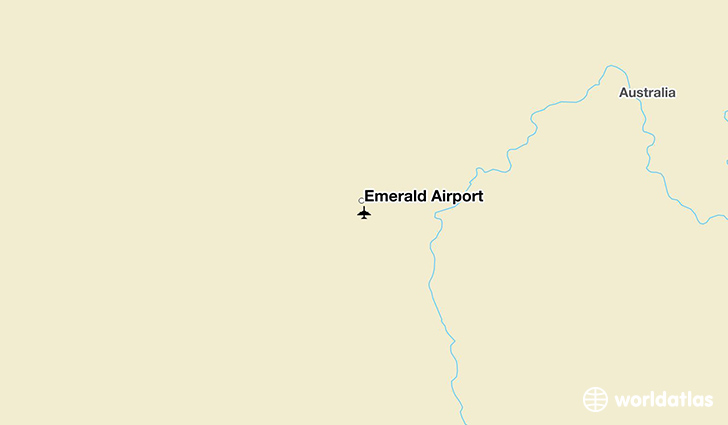 Emerald Airport location on a map