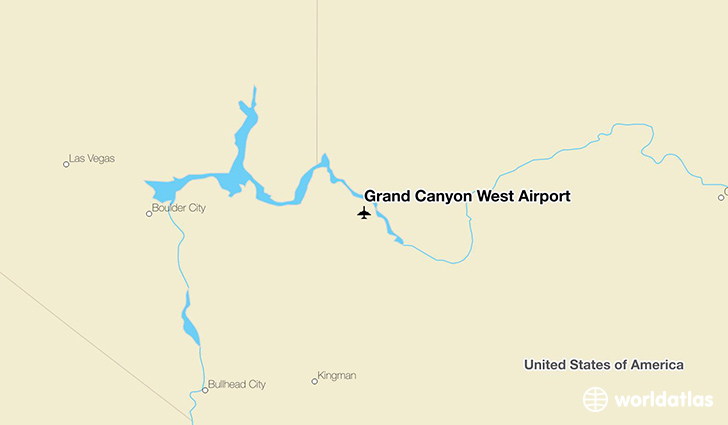 Grand Canyon West Airport location on a map