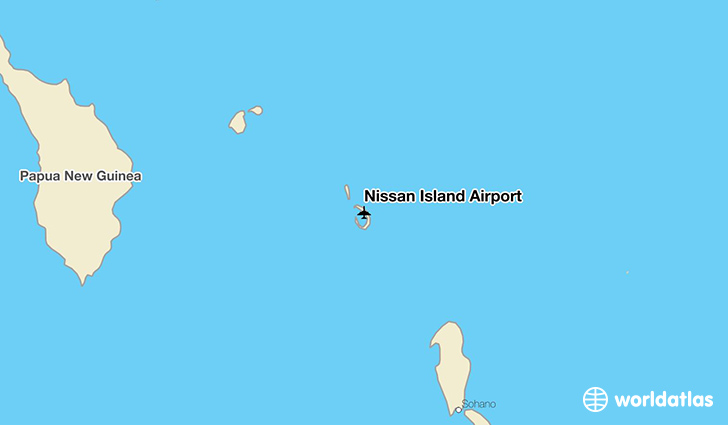 Nissan Island Airport location on a map