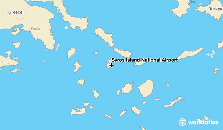 Syros Island National Airport JSY WorldAtlas