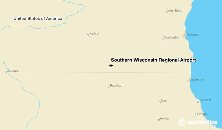 Southern Wisconsin Regional Airport location on a map