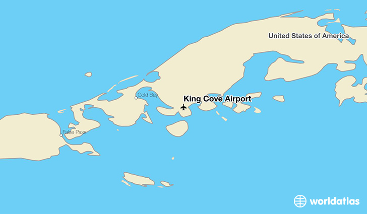 King Cove Airport location on a map
