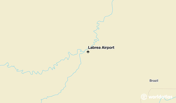Lábrea Airport location on a map
