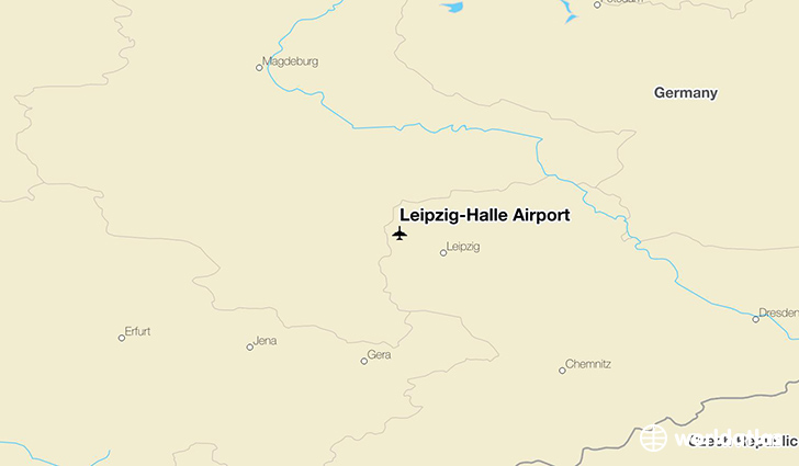 Leipzig-Halle Airport location on a map