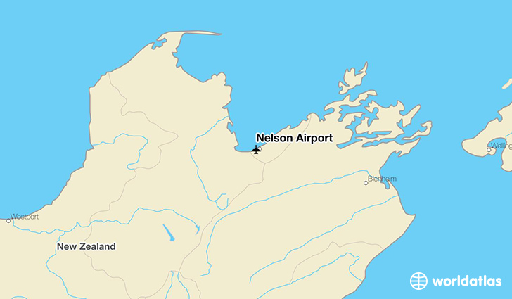 Nelson Airport location on a map