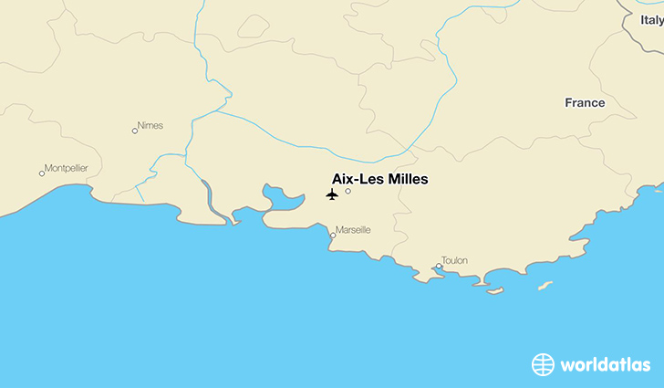 Aix-Les Milles location on a map