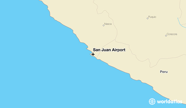 San Juan Airport location on a map