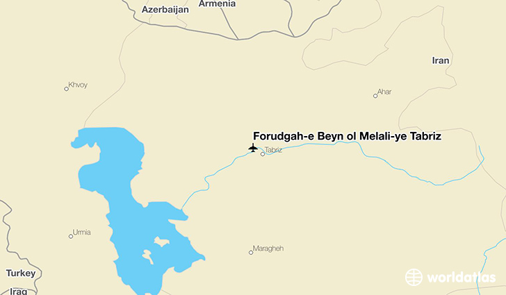 Forūdgāh-e Beyn ol Melalī-ye Tabrīz location on a map