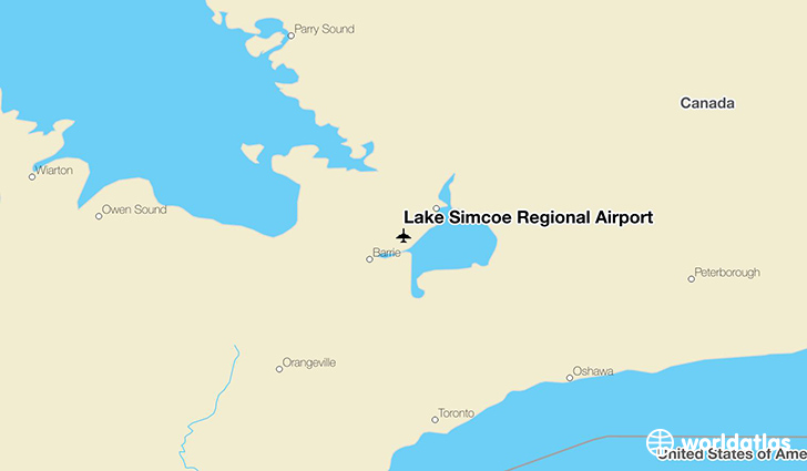 Lake Simcoe Regional Airport location on a map