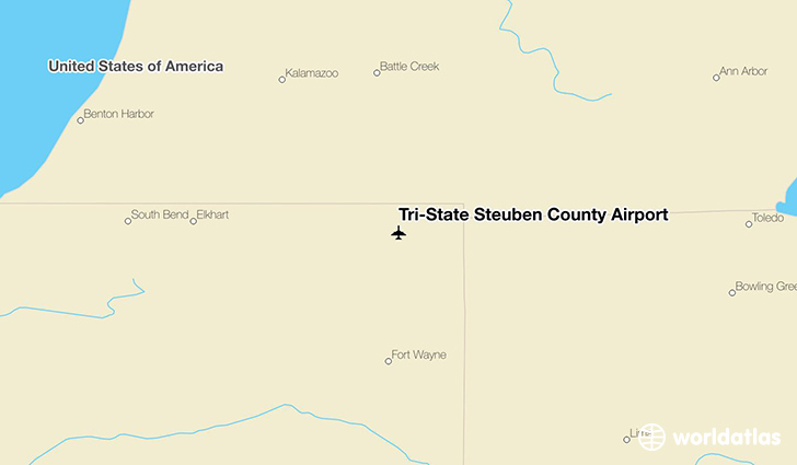 Tri-State Steuben County Airport location on a map