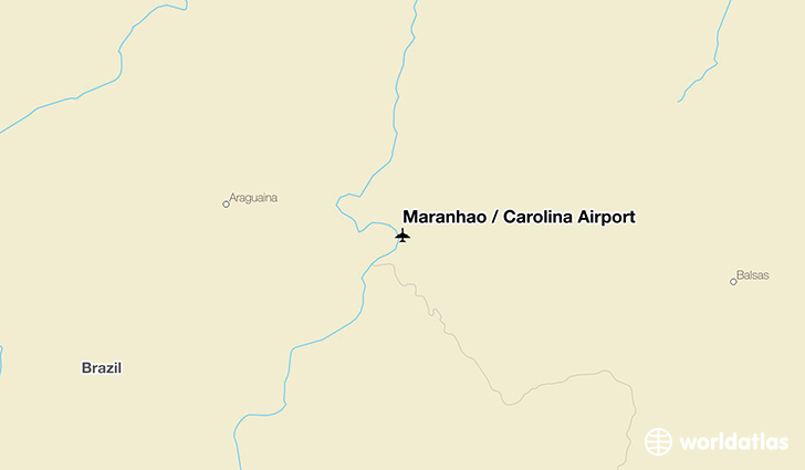 Maranhão / Carolina Airport location on a map